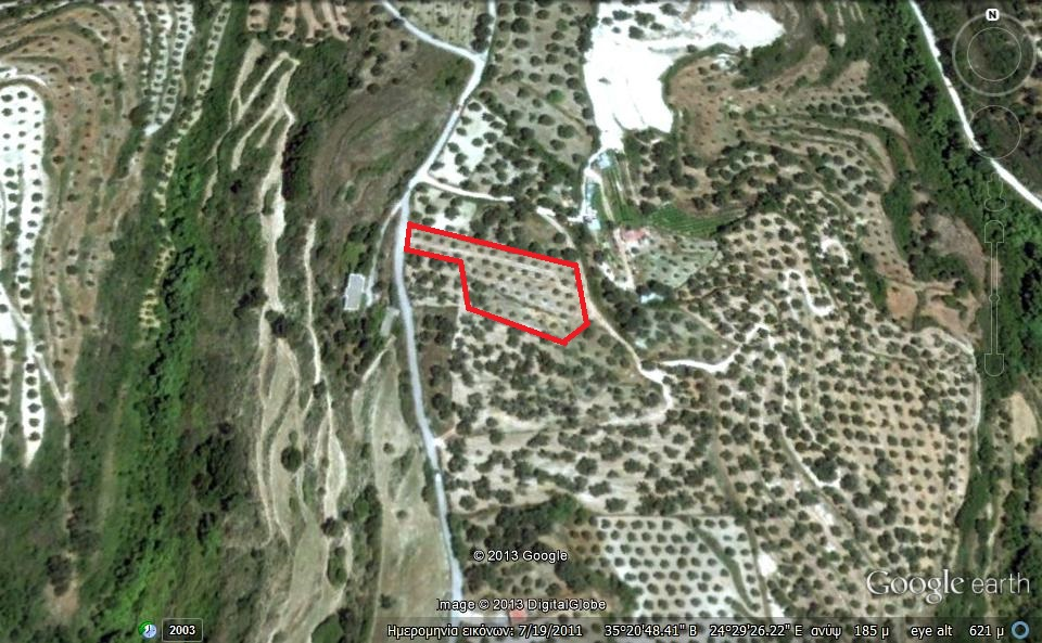 Vente terrain agricole rethimno crete grece ag eirini for Que peut on construire sur un terrain agricole