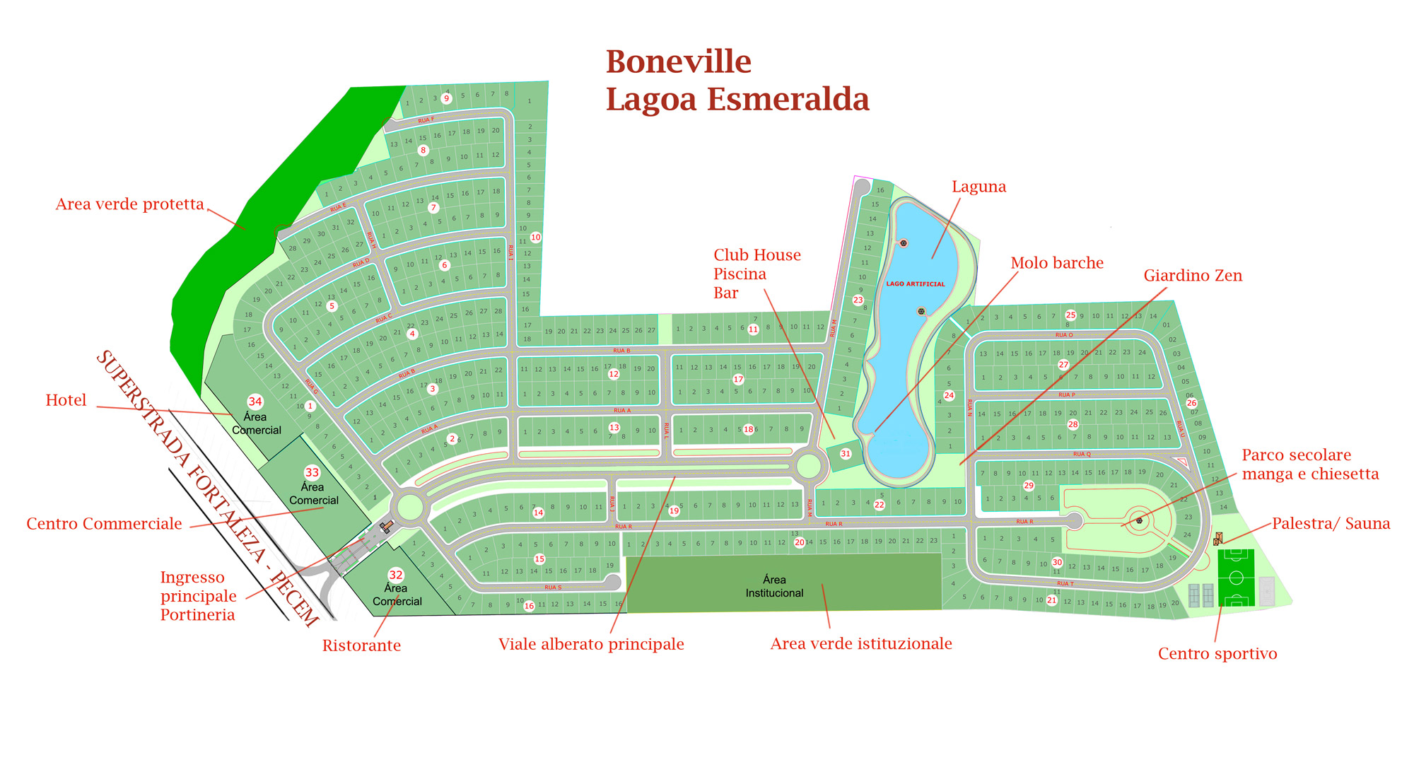 Vente terrain constructible caucaia cear br sil via for Construction piscine zone non constructible